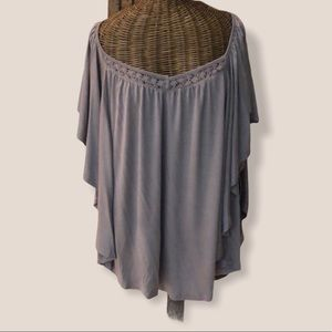 NWT Do & Rae Gray Dolman Top S M